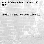 The item(s) has now been collected.-5 Odessa Road, London, E7 9BG
