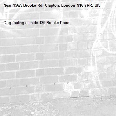 Dog fouling outside 135 Brooke Road.-156A Brooke Rd, Clapton, London N16 7RR, UK
