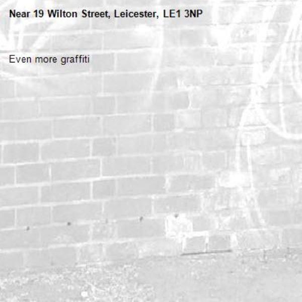 Even more graffiti -19 Wilton Street, Leicester, LE1 3NP