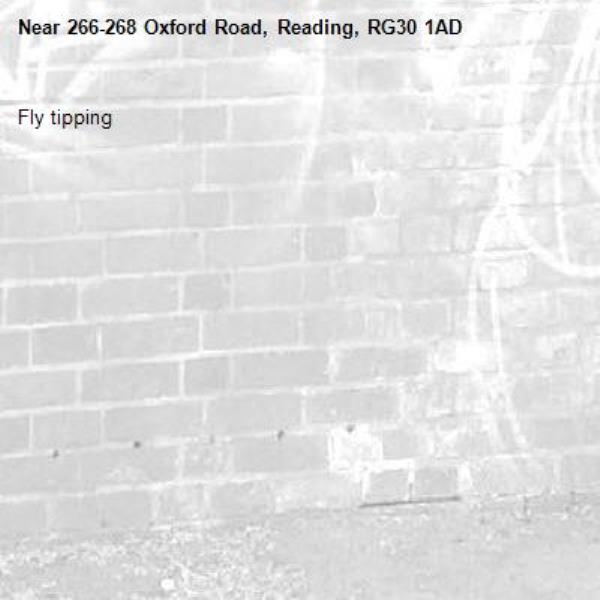 Fly tipping-266-268 Oxford Road, Reading, RG30 1AD