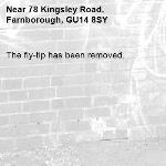 The fly-tip has been removed.-78 Kingsley Road, Farnborough, GU14 8SY