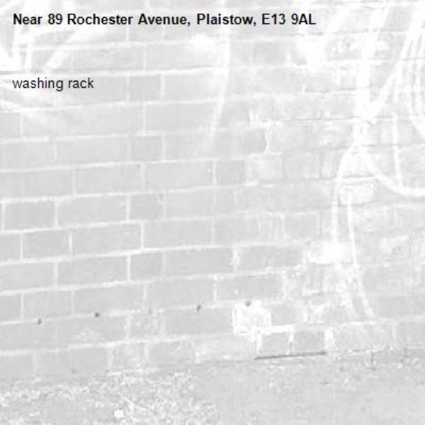 washing rack-89 Rochester Avenue, Plaistow, E13 9AL