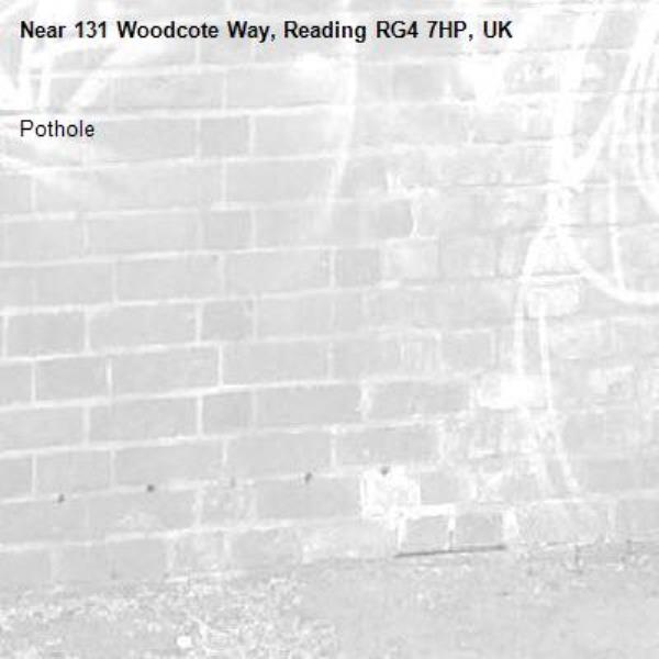 Pothole-131 Woodcote Way, Reading RG4 7HP, UK