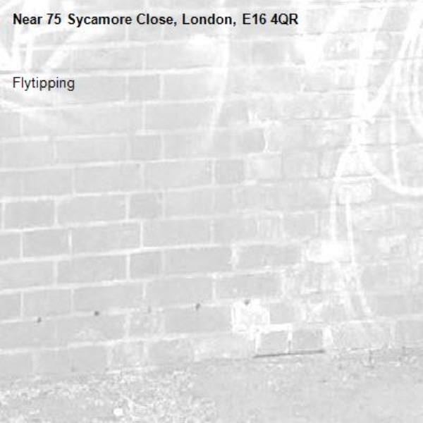 Flytipping -75 Sycamore Close, London, E16 4QR