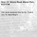 We have removed the fly-tip. Thank you for reporting it.-387 Strone Road, Manor Park, E12 6TW