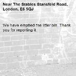 We have emptied the litter bin. Thank you for reporting it.-The Stables Stansfeld Road, London, E6 5QJ