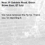 We have removed the fly-tip. Thank you for reporting it.-29 Oakdale Road, Green Street East, E7 8JU