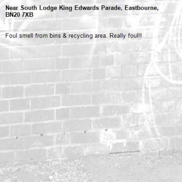 Foul smell from bins & recycling area. Really foul!! -South Lodge King Edwards Parade, Eastbourne, BN20 7XB
