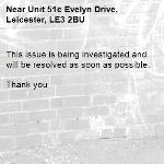 This issue is being investigated and will be resolved as soon as possible.   Thank you -Unit 51c Evelyn Drive, Leicester, LE3 2BU
