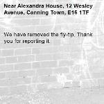We have removed the fly-tip. Thank you for reporting it.-Alexandra House, 12 Wesley Avenue, Canning Town, E16 1TF
