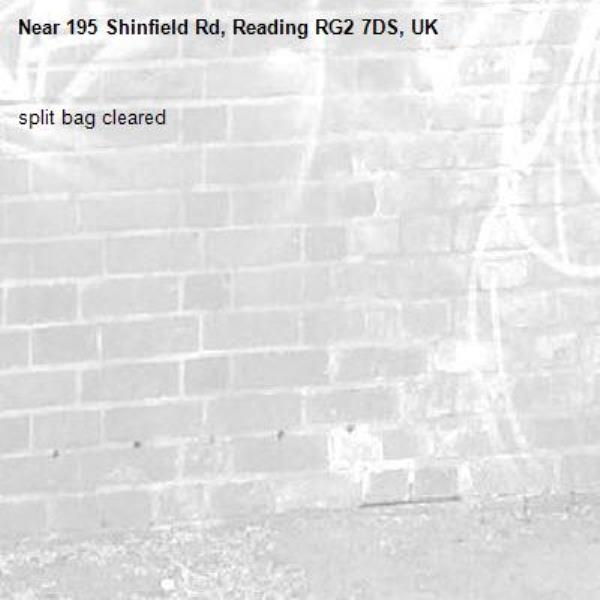 split bag cleared -195 Shinfield Rd, Reading RG2 7DS, UK