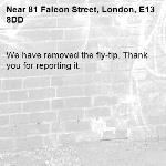 We have removed the fly-tip. Thank you for reporting it.-81 Falcon Street, London, E13 8DD