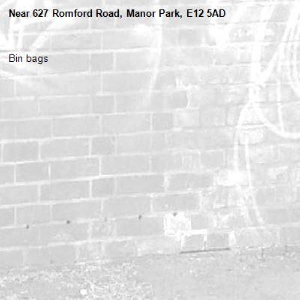 Bin bags -627 Romford Road, Manor Park, E12 5AD