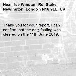 Thank you for your report, I can confirm that the dog fouling was cleared on the 11th June 2019.