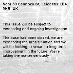 This issue will be subject to monitoring and ongoing investigation.
