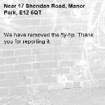We have removed the fly-tip. Thank you for reporting it.-17 Sheridan Road, Manor Park, E12 6QT