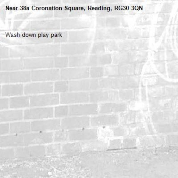 Wash down play park -38a Coronation Square, Reading, RG30 3QN