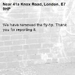 We have removed the fly-tip. Thank you for reporting it.-41a Knox Road, London, E7 9HP