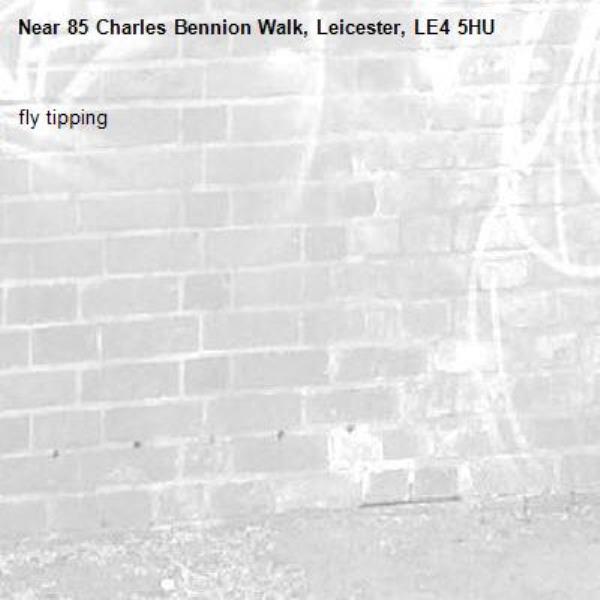 fly tipping-85 Charles Bennion Walk, Leicester, LE4 5HU