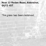The glass has been removed.-22 Redan Road, Aldershot, GU12 4ST