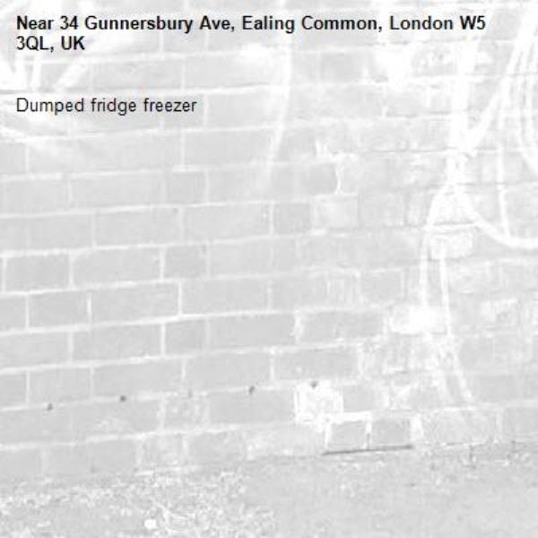 Dumped fridge freezer -34 Gunnersbury Ave, Ealing Common, London W5 3QL, UK
