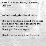We've investigated the situation.