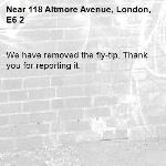 We have removed the fly-tip. Thank you for reporting it.-118 Altmore Avenue, London, E6 2