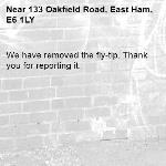 We have removed the fly-tip. Thank you for reporting it.-133 Oakfield Road, East Ham, E6 1LY