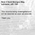 This issue is being investigated and will be resolved as soon as possible.   Thank you -4 Saint Georges Way, Leicester, LE1 1SH