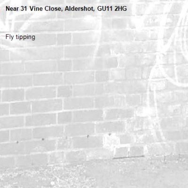 Fly tipping -31 Vine Close, Aldershot, GU11 2HG