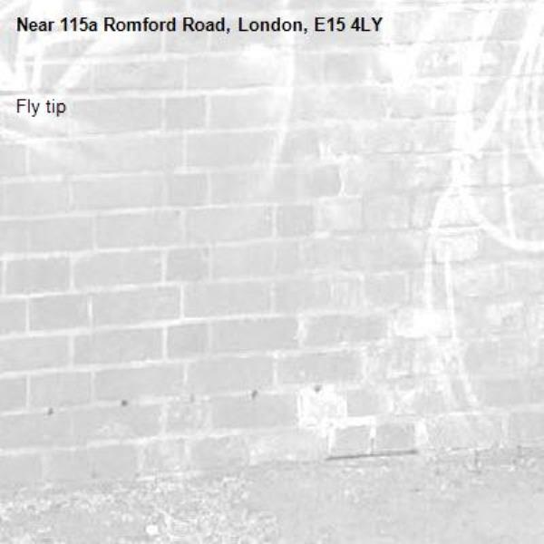 Fly tip-115a Romford Road, London, E15 4LY