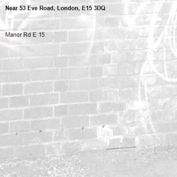 Manor Rd E 15-53 Eve Road, London, E15 3DQ