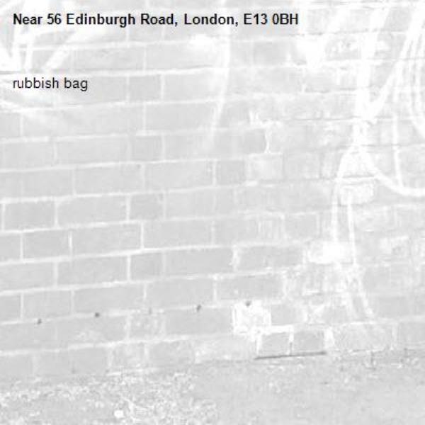 rubbish bag-56 Edinburgh Road, London, E13 0BH