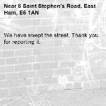 We have swept the street. Thank you for reporting it.-6 Saint Stephen's Road, East Ham, E6 1AN