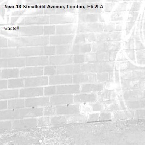waste!!-18 Streatfeild Avenue, London, E6 2LA