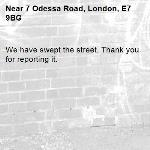 We have swept the street. Thank you for reporting it.-7 Odessa Road, London, E7 9BG