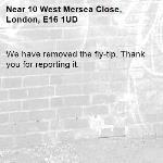 We have removed the fly-tip. Thank you for reporting it.-10 West Mersea Close, London, E16 1UD