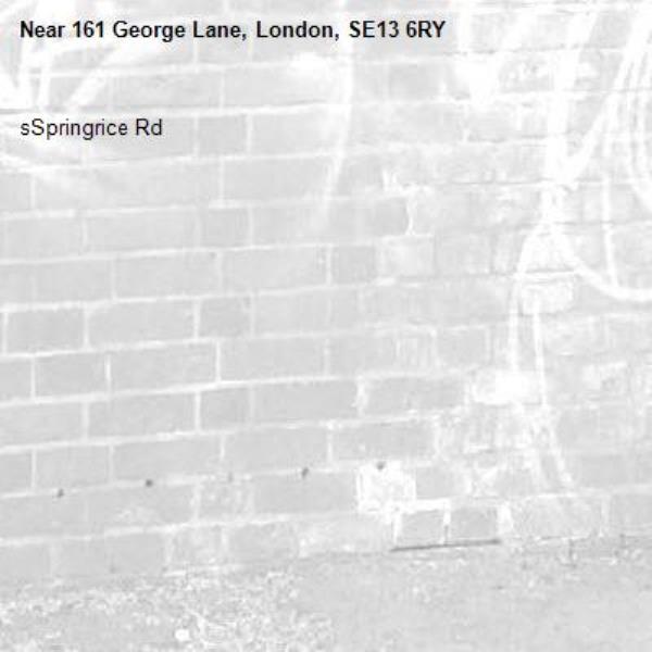 sSpringrice Rd -161 George Lane, London, SE13 6RY