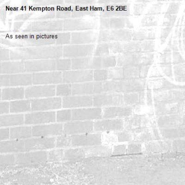 As seen in pictures -41 Kempton Road, East Ham, E6 2BE