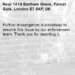 Further investigation is underway to resolve this issue by our enforcement team. Thank you for reporting it.-141A Earlham Grove, Forest Gate, London E7 9AP, UK
