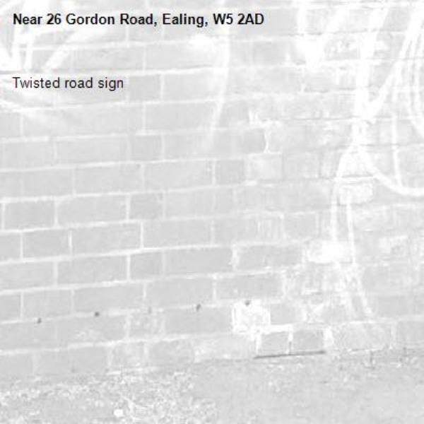 Twisted road sign-26 Gordon Road, Ealing, W5 2AD