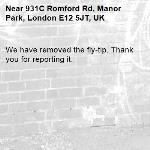We have removed the fly-tip. Thank you for reporting it.-931C Romford Rd, Manor Park, London E12 5JT, UK