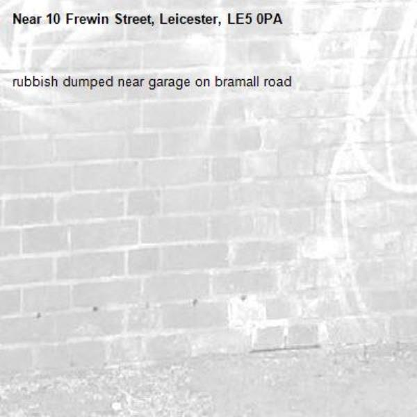 rubbish dumped near garage on bramall road -10 Frewin Street, Leicester, LE5 0PA