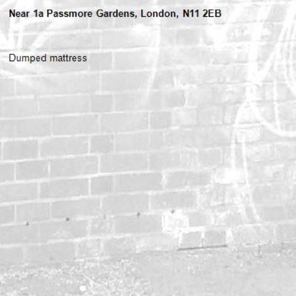 Dumped mattress-1a Passmore Gardens, London, N11 2EB