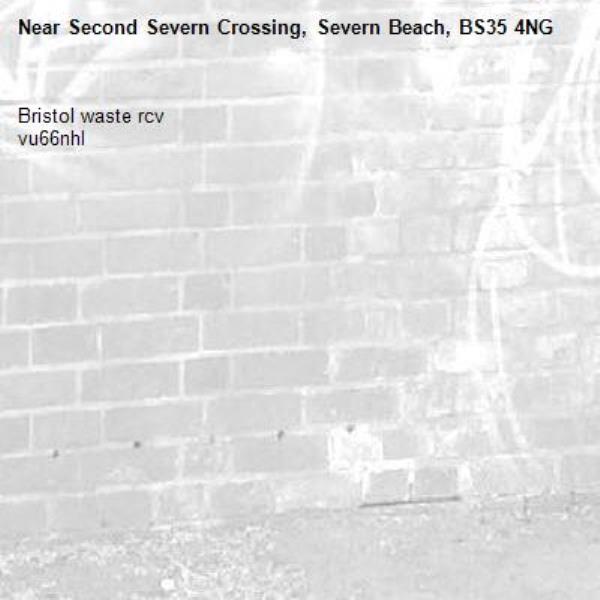 Bristol waste rcv  vu66nhl-Second Severn Crossing, Severn Beach, BS35 4NG