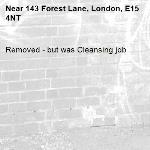 Removed - but was Cleansing job-143 Forest Lane, London, E15 4NT