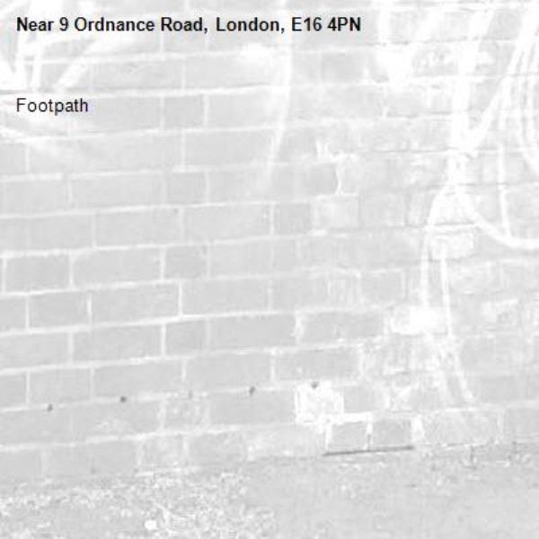 Footpath -9 Ordnance Road, London, E16 4PN