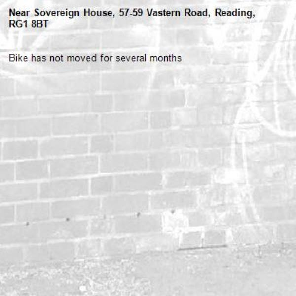 Bike has not moved for several months-Sovereign House, 57-59 Vastern Road, Reading, RG1 8BT