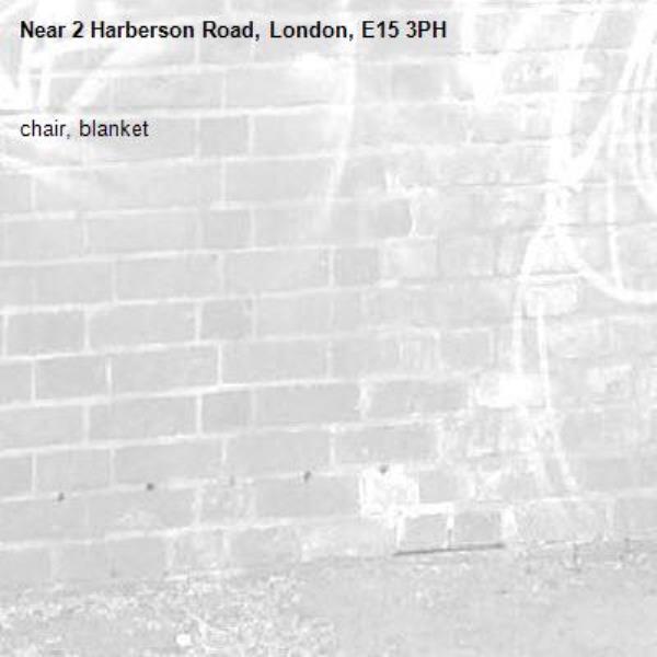 chair, blanket-2 Harberson Road, London, E15 3PH