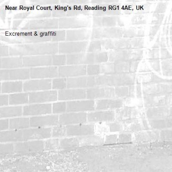 Excrement & graffiti-Royal Court, King's Rd, Reading RG1 4AE, UK